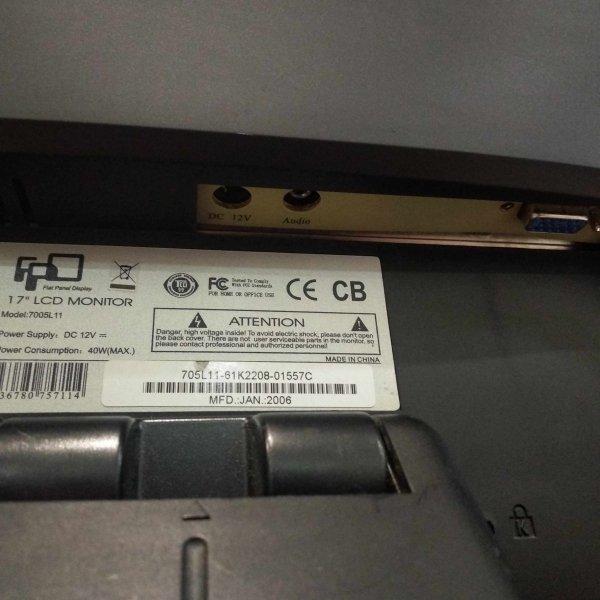 """Monitor 17"""" Flat Panel Display 7005L11 (używany)"""