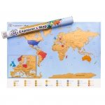 Mapa Odkrywcy - Świat (EN) - ulepszona zdrapka