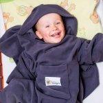 Baby Wrapi Active - Kocyk z rękawami - Grafit