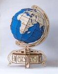 Drewniane puzzle mechaniczne 3D Wooden.City Globus blue  #T1