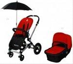 Wózek wielofunkcyjny 2w1 EuroBaby BAOBAO czerwony - nowoczesność i wysoka jakość | Klasa PREMIUM