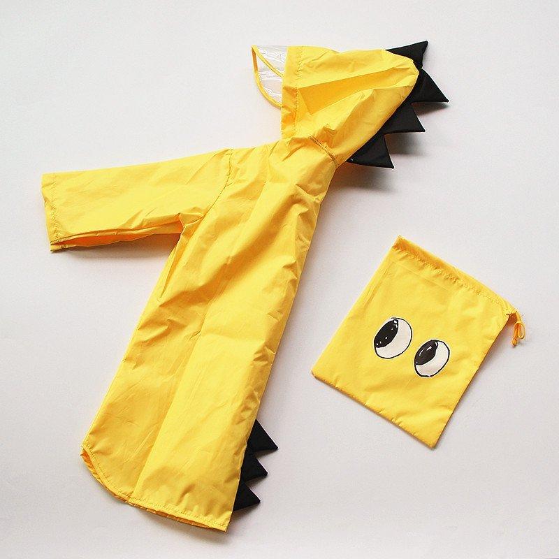 Płaszcz przeciwdeszczowy dziecięcy peleryna ponczo żółty XXL