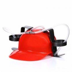 Imprezowy kask - Czerwony