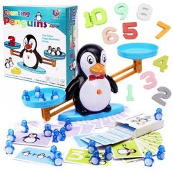 Waga szalkowa edukacyjna nauka liczenia pingwin duża