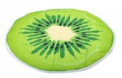 Ręcznik plażowy okrągły duży pled kiwi 158cm