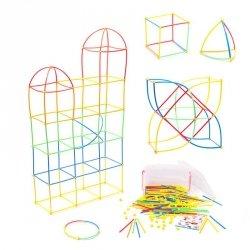 Słomki do budowania klocki konstrukcyjne BOX 170el.