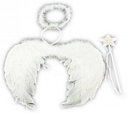 Skrzydła aniołka + aureolka i różdżka