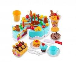 Tort Urodzinowy do Krojenia 75 el. niebieski