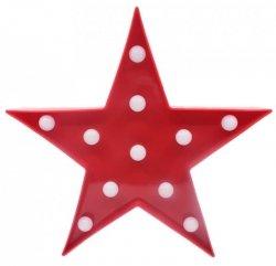 Lampka Dekoracyjna LED Gwiazda Czerwona