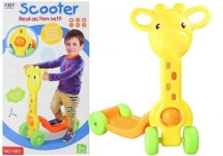 Wesoła Hulajnoga żyrafa 4koła 2 kolory 60cmx50cm