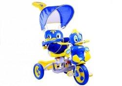 Rower Trójkołowy Kaczka Niebieski Dla Dzieci Rowerek