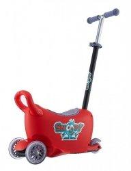SNOOP! 3w1- jeździk, hulajnoga, kuferek - CZERWONY - Wspaniały kompan dla dziecka pełnego energii