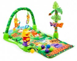 Mata Edukacyjna dla dzieci Rainforest Tropical ZOO #E1