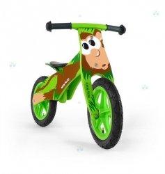Rowerek biegowy drewniany DUPLO - MAŁPKA - niebanalny wygląd