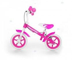 Rowerek biegowy DRAGON z hamulcem - różowy - wszechstronny rozwój
