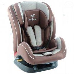 Fotelik samochodowy VSX ISOFIX TOP TETHER 9-36 kg brązowy - staranne wykonanie, wygoda i bezpieczeństwo