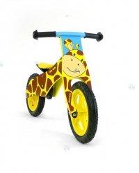 Rowerek biegowy drewniany DUPLO - ŻYRAFA - niebanalny wygląd