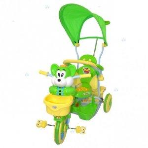 Rowerek trójkołowy 3w1 Myszka zielony - moc atrakcji