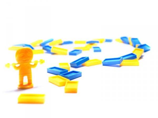 Lokomotywa Pociąg Układanka domino ciuchcia transparentna