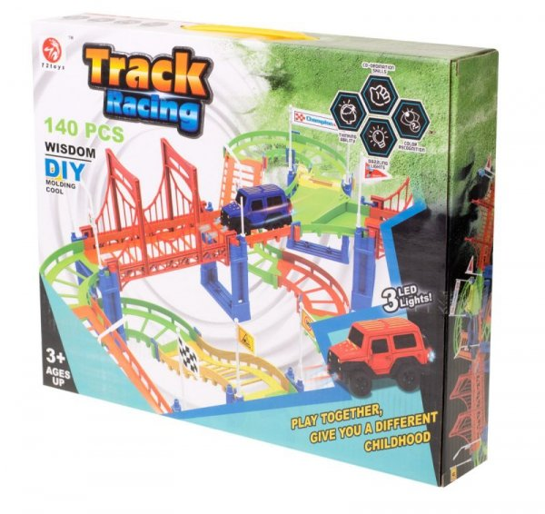 Tor samochodowy Track Racing + samochód 140el.