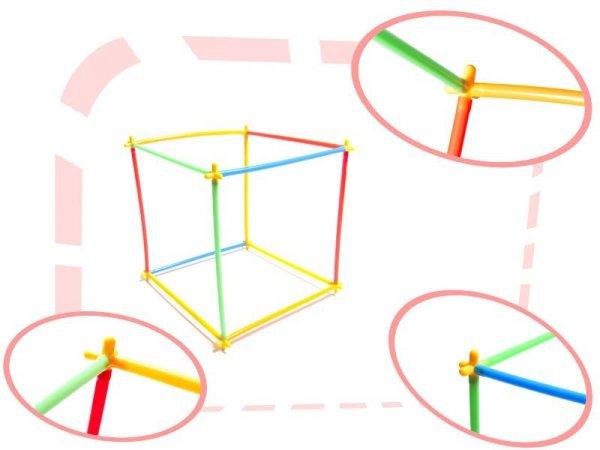 Słomki do budowania klocki konstrukcyjne BOX 400el.