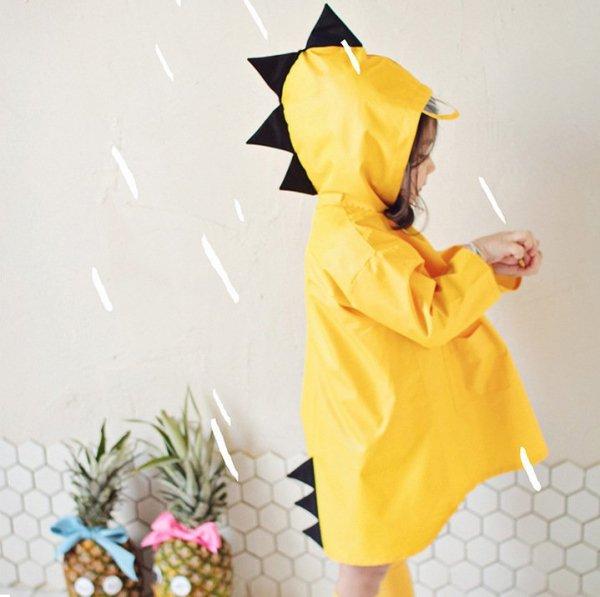 Płaszcz przeciwdeszczowy dziecięcy peleryna ponczo żółty L / 95-100cm