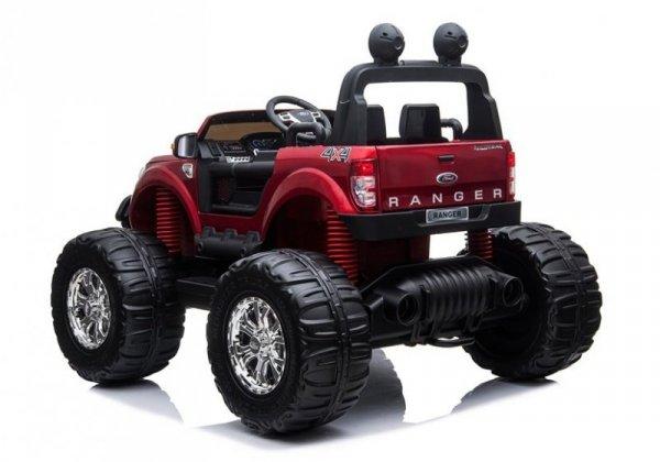 Pojazd na Akumulator Ford Ranger Monster Czerwony Lakierowany LCD
