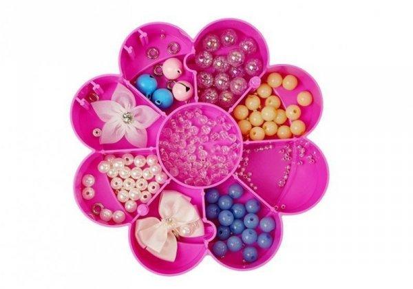 Zestaw Koralików do Biżuterii DIY Składane Pudełko z Lusterkiem