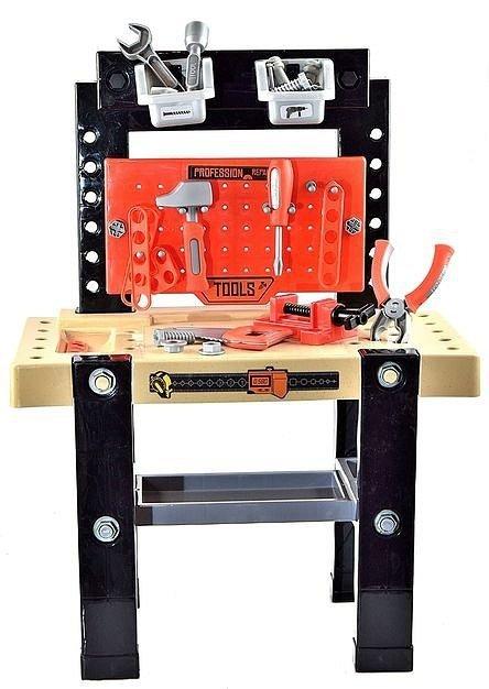 Warsztat Mały Majsterkowicz - duży stół z narzędziami