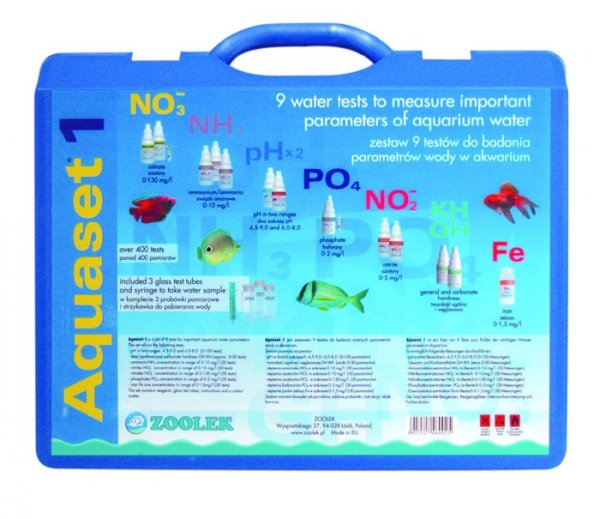 Zoolek Aquaset 1 9W1 Test No3 No2 Nh3 Gh-Kh Po4 Fe Hit!