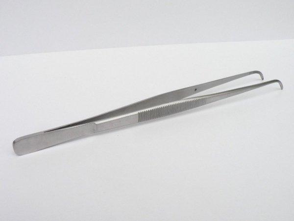 Pinceta Pęseta Zagięta Akwarystyczna Stal Nierdzewna 15,5cm