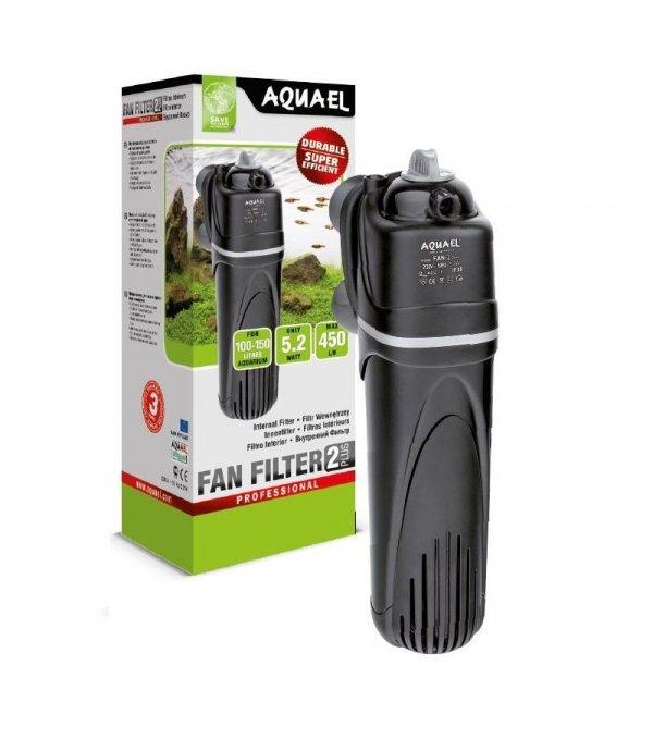 Aquael Filtr Wewnętrzny Fan-2 Plus 450L/H 3xGąbka Zeolit