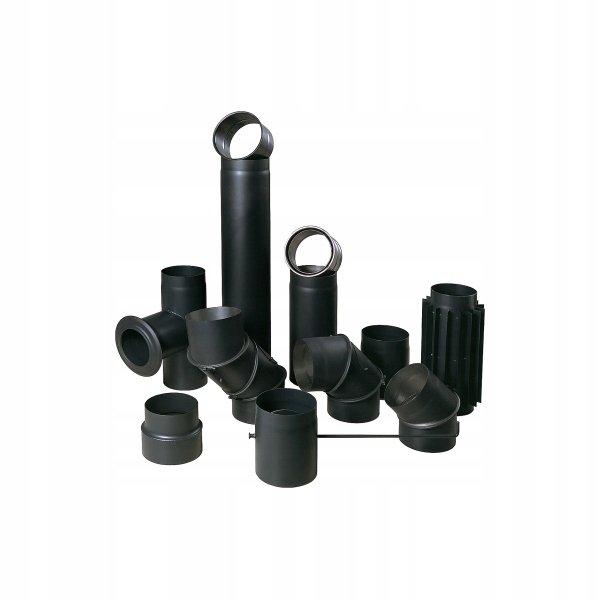 SZYBER SPALINOWY czarny fi 160/250mm 25cm BERTRAMS