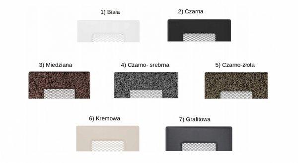 Kratka kominkowa 17x30 - 7 kolorów