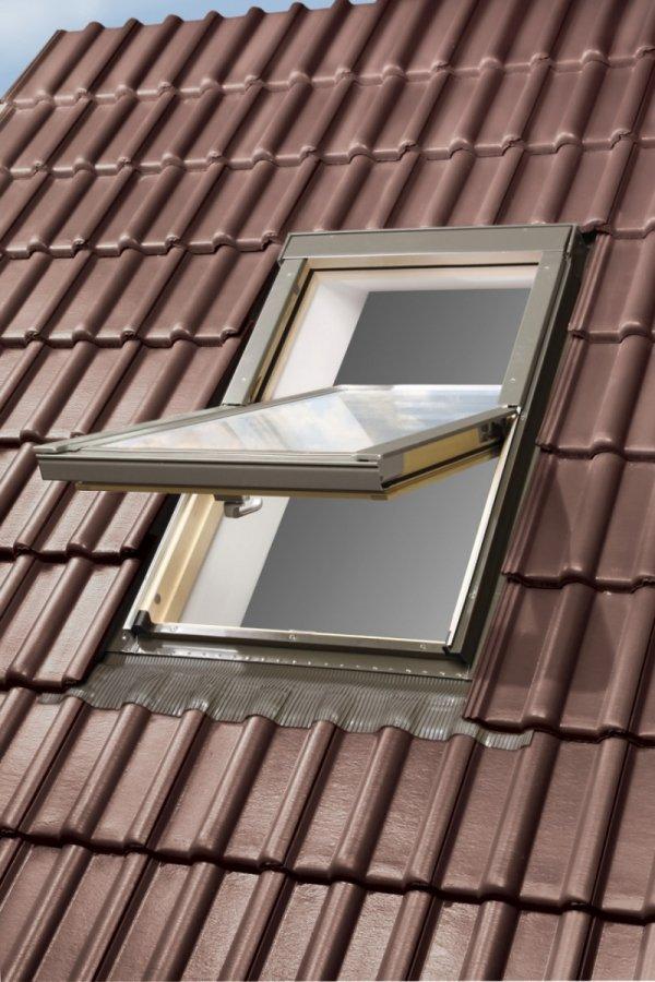 KOMPLET: Okno dachowe OPTILIGHT 66x118 B + KOŁNIERZ