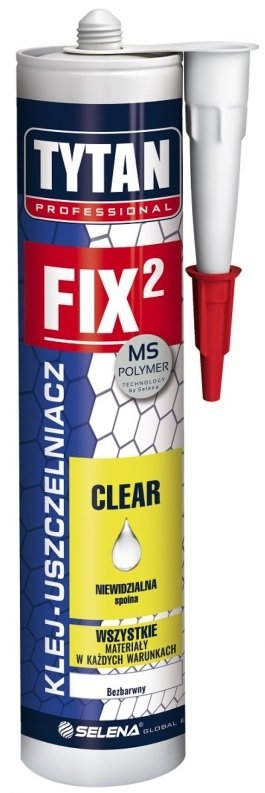 TYTAN FIX2 CLEAR KLEJ-USZCZELNIACZ BEZBARWNY 290 ml