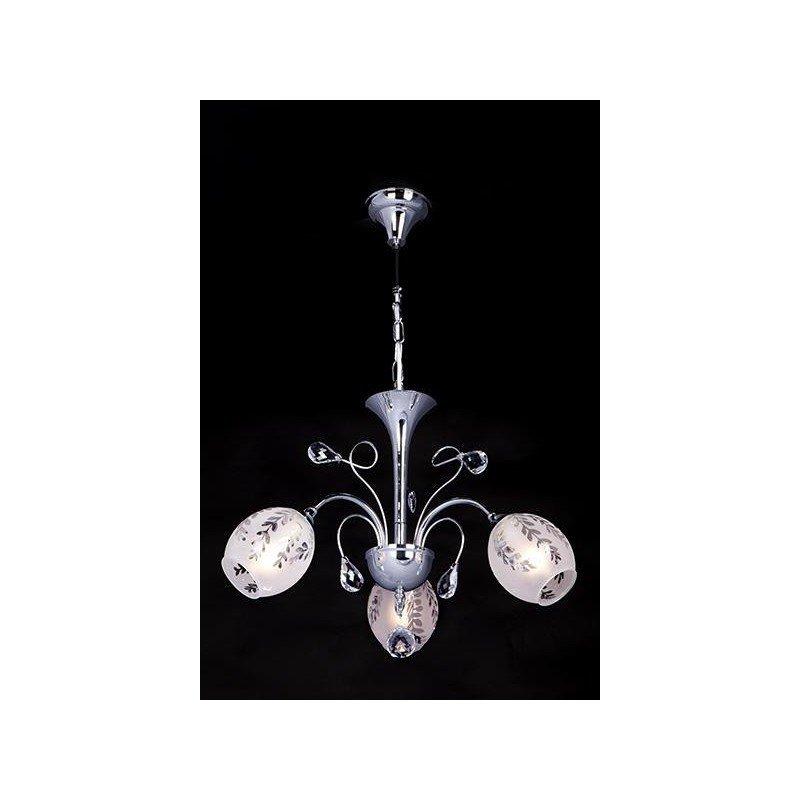 Lampa Wisząca żyrandol Nowoczesny Z Kryształami Kryształowy Chrom