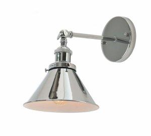 LAMPA ŚCIENNA KINKIET LOFTOWY CHROMOWANY GUBI W1