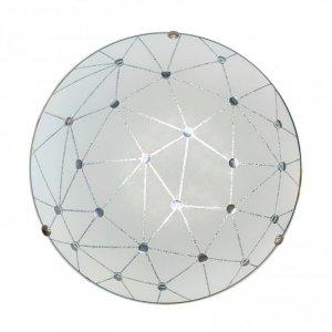 Plafon szklany lampa biała LED Rock Candellux 13-75079