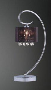 ITALIX SPAN MTM1583/1 LAMPKA BIURKOWA GLAMOUR Z KRYSZTAŁKAMI CZARNA