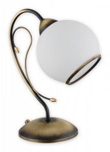 Mitra lampka stołowa 1 pł. / patyna