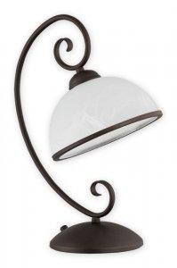 Indra lampka stołowa 1 pł. / rdza wenge