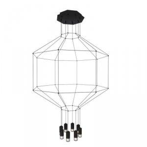 Lampa wisząca LINEA-8 czarna 80 cm