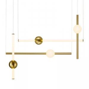 Lampa wisząca O-LINE L-4 LED mosiądz 110 cm