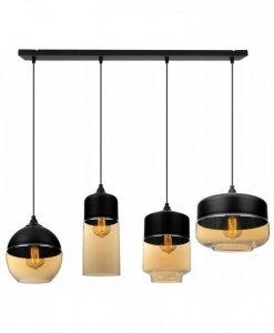 Lampa wisząca ze szklanymi kloszami - OSLO 2234/4/M/MIX