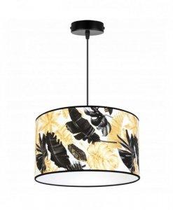 Lampa abażur wzór kwiaty - GOLD FLOWERS 2301/1/35
