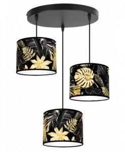 Lampa wisząca z abażurem - GOLD FLOWERS 2300/3/OW