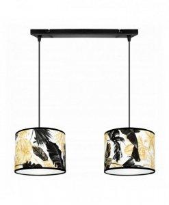 Lampa wisząca z abażurem - GOLD FLOWERS 2301/2/20