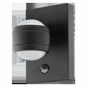 EGLO SESIMBA 1 96021 KINKIET LED ZEWNĘTRZNY CZARNY Z CZUJNIKIEM RUCHU