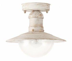 LAMPA SUFITOWA PLAFON ZEWNĘTRZNY BIAŁY ANTYCZNY NA TARAS RABALUX 8739 OSLO